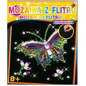 Mozaika z flitrů 8+ Motýl 35 x 26 cm
