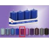 Lima Svíčka hladká metal tmavě fialová válec 40 x 70 mm 4 kusy