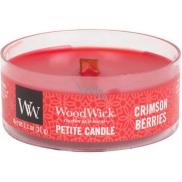 WoodWick Crimson Berries - Jeřabiny s kořením vonná svíčka s dřevěným knotem petite 31 g