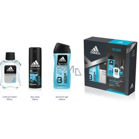 Adidas Ice Dive voda po holení 100 ml + deodorant sprej 150 ml + sprchový gel 250 ml, kosmetická sada
