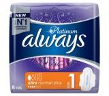 Always Platinum Ultra Normal Plus hygienické vložky s křidélky 8 kusů
