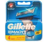 Gillette Mach 3 Turbo náhradní hlavice 4 kusů