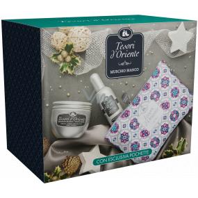 Tesori d Oriente Muschio Bianco tělový krém 300 ml + parfémovaná voda pro ženy 100 ml + taštička, dárková sada