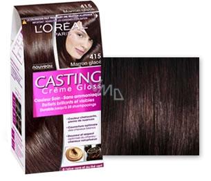 Loreal Paris Casting Creme Gloss barva na vlasy 415 ledový kaštan ... 4f23f0c3608