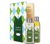 Bohemia Gifts Pohádka o dědečkovi sprchový gel 250 ml + olejová lázeň 200 ml (s příjemnou citrusovou vůní). kniha kosmetická sada