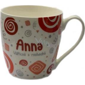 Nekupto Twister hrnek se jménem Anna červený 0,4 litru