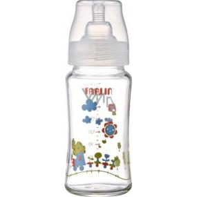 Baby Farlin kojenecká láhev skleněná se širokým hrdlem 3+ měsíce ABB-B001-24 240 ml