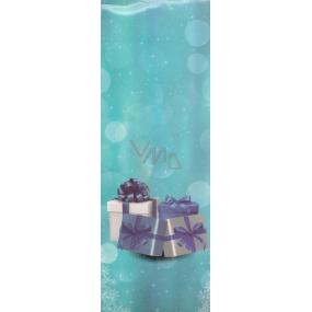 Nekupto Dárková papírová taška na láhev 33 x 10 x 9 cm vánoční 1253 40 WLH