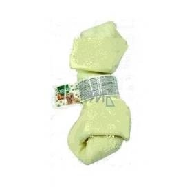 Salač Uzel buvolí Žvýkací uzel z buvolí kůže přírodní doplňkové krmivo 10 - 12 cm bílý