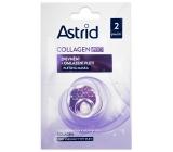 Astrid Collagen Pro Zpevnění + omlazení pleti maska pro všechny typy pleti 2 x 8 ml