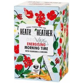 Heat & Heather Bio Dobré ráno Jablka a šípky s guaranou a ženšenem čaj 20 sáčků x 2 g