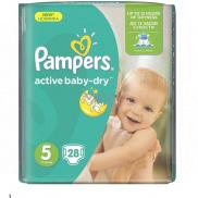 Pampers Active Baby Dry 5 Junior 11-18 kg jednorázové plenky 28 kusů