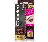 Delia Cosmetics Cameleo Krémová profesionální barva na obočí, bez amoniaku 3.0 Dark Brown - Tmavě hnědá 15 ml
