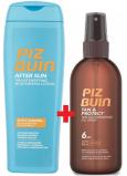 Piz Buin Tan & Protect SPF6 ochranný olej urychlující proces opalování 150 ml sprej + After Sun Tan Intensifying hydratační mléko po opalování, zdůrazňuje opálení 200 ml, duopack
