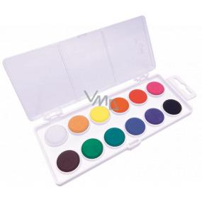 Koh-i-Noor Školní vodové barvy, bílý podklad 22,5 mm 12 barev