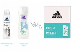 Adidas Pro Invisible antiperspirant deodorant sprej pro ženy 150 ml + sprchový gel 250 ml, kosmetická sada