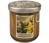 Heart & Home Zázvor a Citronová tráva Sojová vonná svíčka střední hoří až 30 hodin 115 g