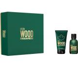 Dsquared2 Green Wood toaletní voda pro muže 30 ml + sprchový gel 50 ml, dárková sada