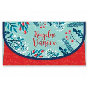 Nekupto Přání obálka na peníze vánoční Kouzelné Vánoce 116 x 220 mm