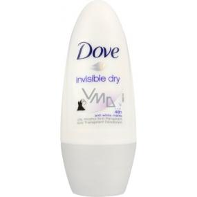 Dove Invisible Dry 48 h kuličkový deodorant roll-on pro ženy 50 ml