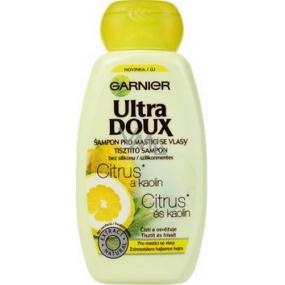 Garnier Ultra Doux Citrus a Kaolin šampon pro mastící se vlasy 250 ml