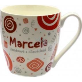 Nekupto Twister hrnek se jménem Marcela červený 0,4 litru