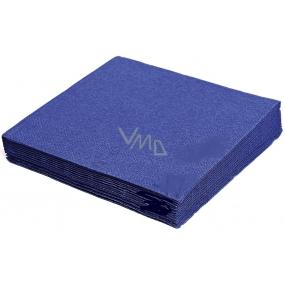 Gastro Papírové ubrousky barevné tmavě modré 2 vrstvé 33 x 33 cm 50 kusů