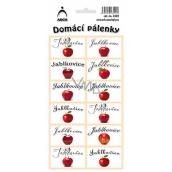 Arch Samolepky Domácí pálenky Jablkovice 12 etiket