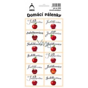 Arch Samolepky Domácí pálenky Jablkovice 3522 12 etiket