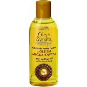 Joanna Oil Of The World Olej na tvář a tělo s mandlovým olejem 100 ml