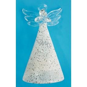 Anděl skleněný na postavení 9 cm