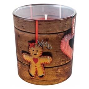 Bolsius Vánoční perník vonná svíčka ve skle 72 x 80 mm