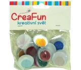 CreaFun Oči barevné 25 mm 15 kusů