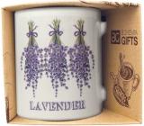 Bohemia Gifts Keramický hrnek s obrázkem Levandule 2 350 ml