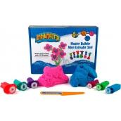 Mad Mattr Kinetický písek modelovací Kreativní set růžová 140 g + modrá 140 g + vykrajovátka 6 kusů