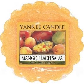 Yankee Candle Mango Peach Salsa - Salsa z manga a broskví vonný vosk do aromalampy 22 g
