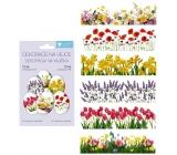 Smršťovací dekorace fólie na vejce Jarní květiny 12 kusů