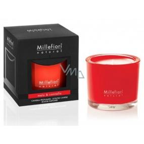 Millefiori Milano Natural Mela & Cannella - Jablko a skořice Vonná svíčka hoří až 60 hodin 180 g