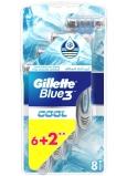 Gillette Blue 3 Cool 3 břitý holicí strojek pro muže 8 kusy
