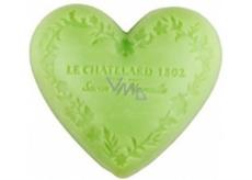 Le Chatelard 1802 Oliva a lipový květ přírodní mýdlo ve tvaru srdce 100 g
