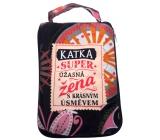 Albi Skládací taška na zip do kabelky se jménem Katka 42 x 41 x 11 cm