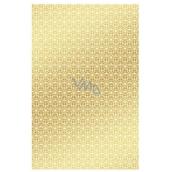 Ditipo Balicí papír zlatý s bílýmy ornamenty 100 x 70 mm 2 kusy