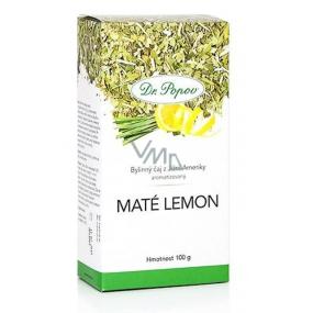 Dr. Popov Maté lemon čaj vhodný při redukčních dietách, odvodňuje 100 g
