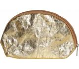 Albi Eko kosmetická taštička vyrobená z pratelného papíru Zlatá 22 x 14 x 6 cm
