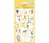 Arch Samolepky do domácnosti, na dárky Happy Birthday žluté 11 x 23,5 cm