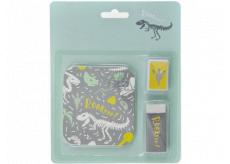 Albi Sada lepítek, ořezávátko a guma Dino 14 x 17 cm