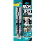 Bison Epoxy Metal dvousložkové epoxidové lepidlo s kovovým zabarvením 24 ml