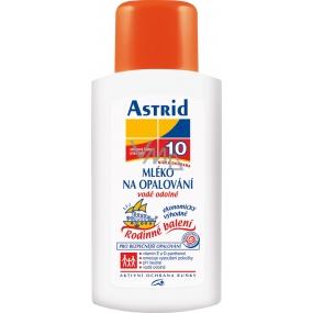 Astrid F10 Mléko na opalování vysoce voděodolné 400 ml rodinné balení