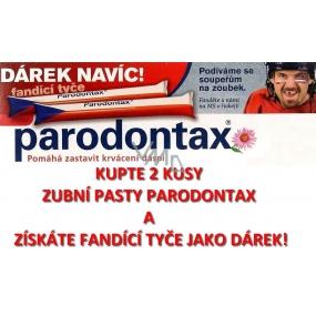 DÁREK Parodontax fandící tyče vlajka České republiky 2 kusy