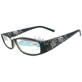 Berkeley Čtecí dioptrické brýle +2,0 černé květy CB02/MC2 1 kus ER6040